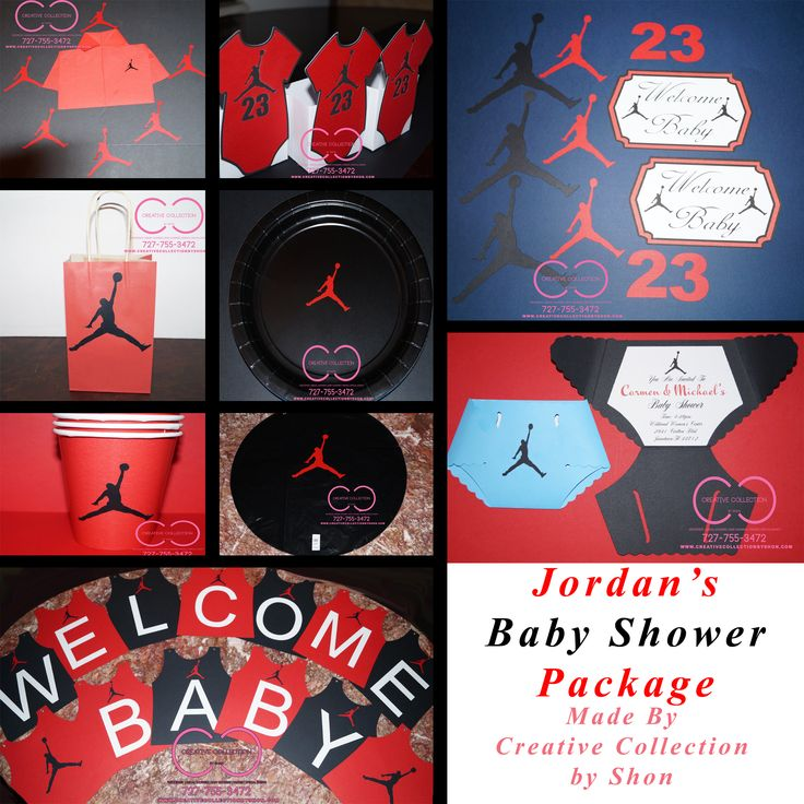"Jumpman ""Jordan"" Inspired Baby Shower Package"
