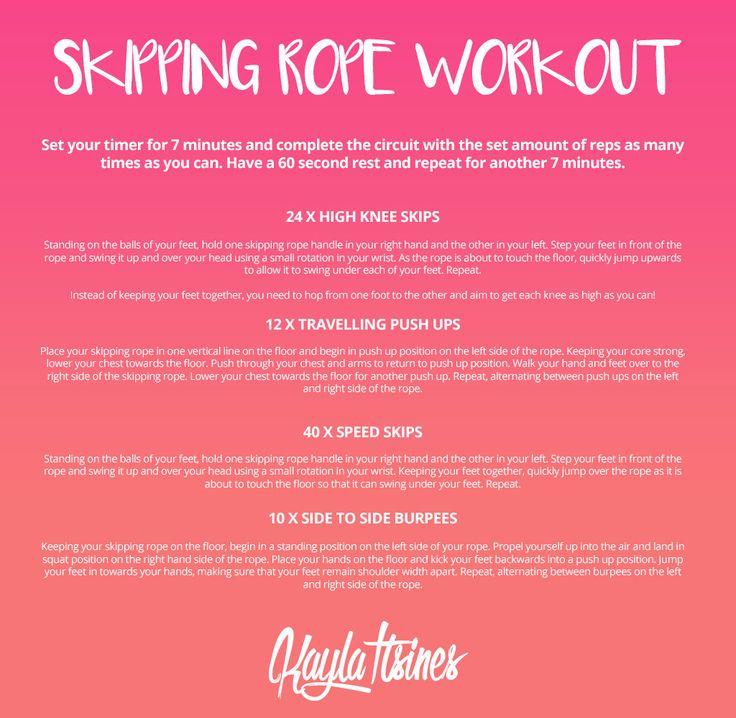 Skipping Rope Workout! – Kayla Itsines
