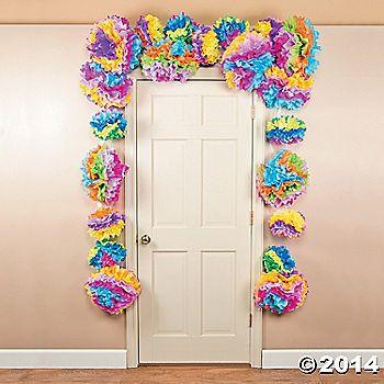 Flower Fiesta Tissue Door Border