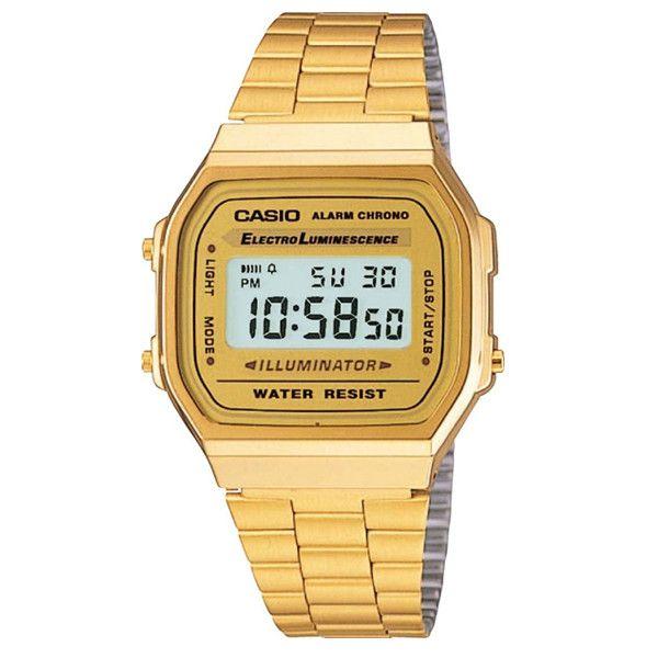 Casio Retro Gold-Tone Digital Watch #CASIO #Gold