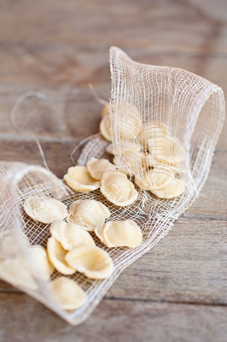 Le orecchiette (typical short, ear-shaped pasta from Puglia, Italy)