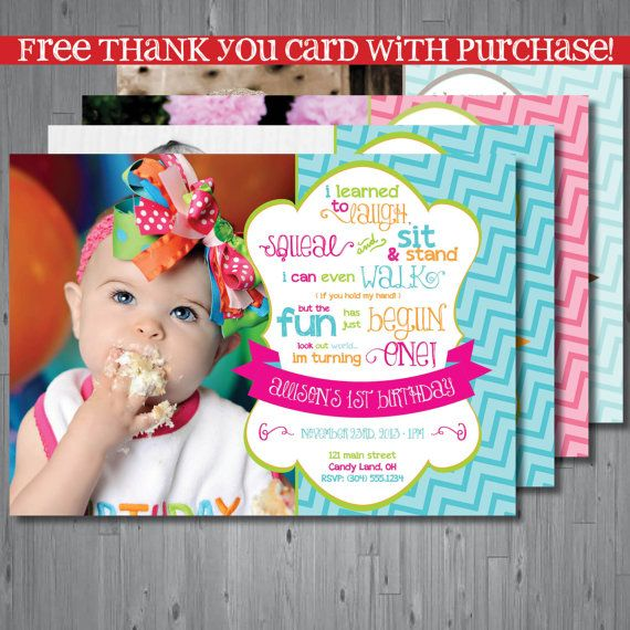 111 best Elliu0027s 1st birthday party images on Pinterest Birthdays - best of invitation for 1st birthday party free