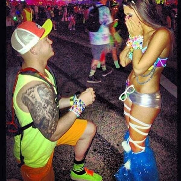 He found his pretty rave girl and they lived happily ever after