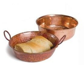 Hammered Copper Bread Baskets