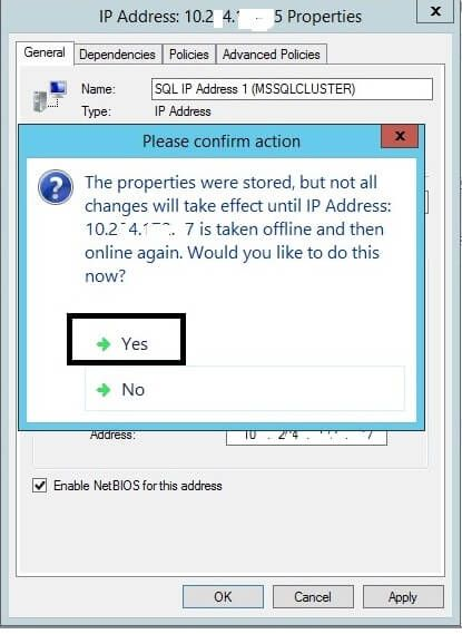 Tip of the Day - Change the Virtual IP Address for a SQL Server Failover Cluste