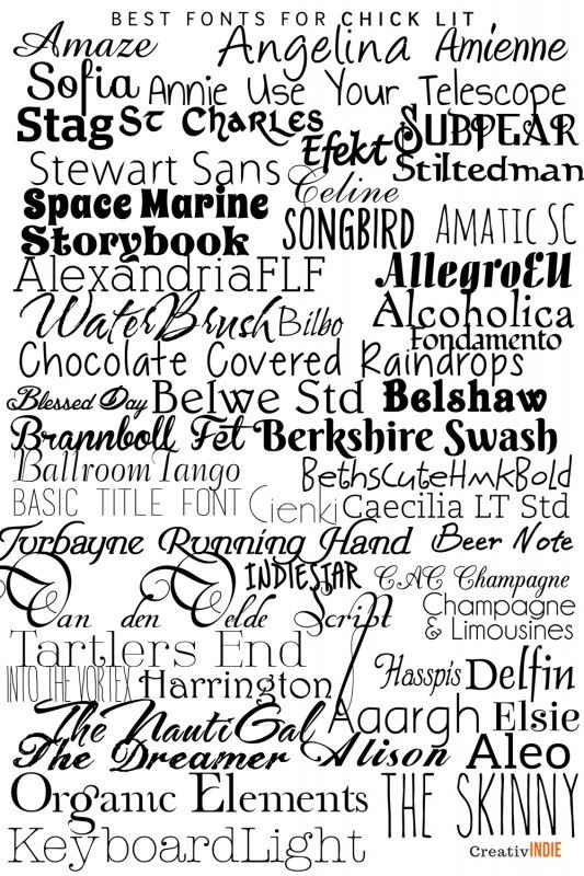 chicklit 533x800 300+ Fool Proof Fonts to use for your Book
