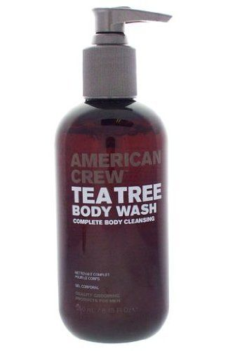 American Crew Tea Tree Body Wash 8.45 oz by AMERICAN CREW. $11.50. Body Wash. 8.45 oz - Haircare. International Shipping Available. American Crew Tea Tree Body Wash 8.45 oz  Get skin that is squeaky clean without drying out when you use American Crew Tea Tree Purifying Body Wash. American Crew Tea Tree Purifying Body Wash reconditions and revives the skin while offering a deep cleansing. The purifying body wash has an energizing scent. The formula contains a blend of...