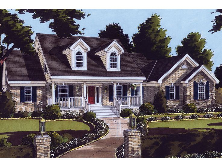 Best Cape Cod Houses Images On Pinterest Architecture - Colonial cape cod style house plans