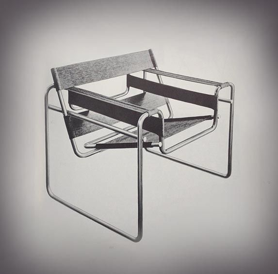marcel breuer wassily chair originally designed at the bauhaus 1920s