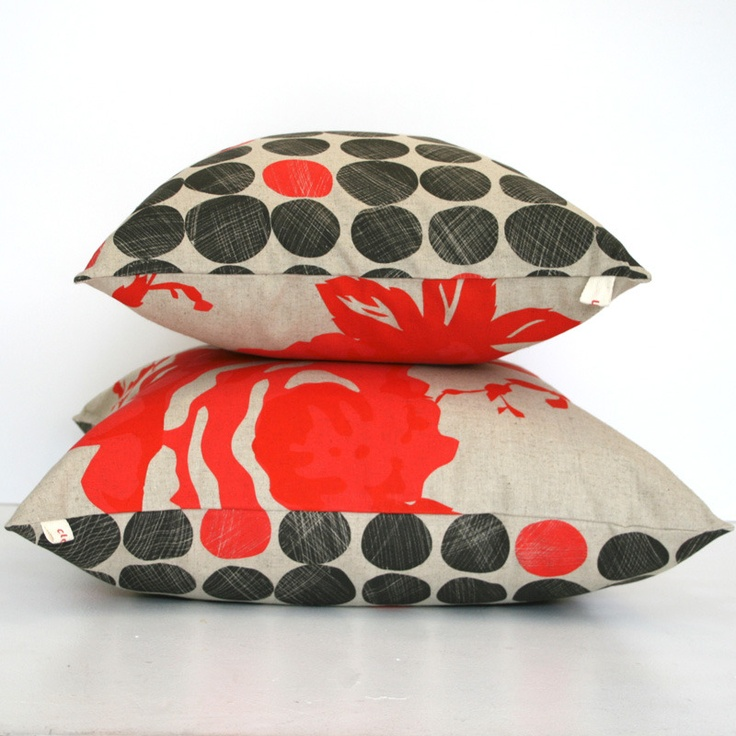 scarlet charcoal cushions, $80, http://store.clothfabric.com/product/cushions