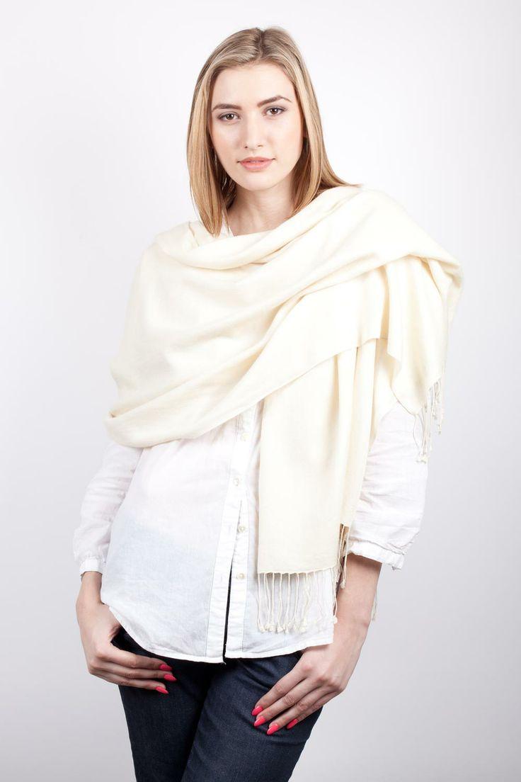 Ivory Pashmina