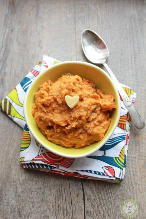 Roasted Sweet Potato and Butternut Squash Mash.