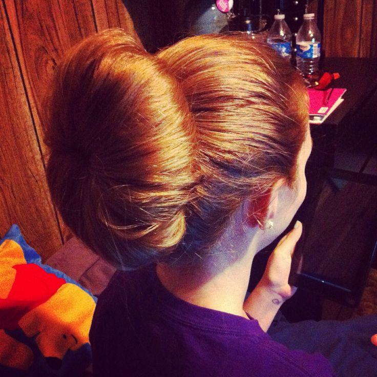 Huge sock bun hairstyle long hair | beauty.