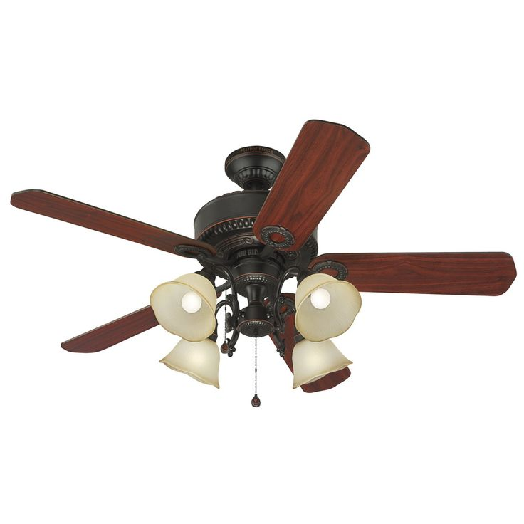 Shop Harbor Breeze 52 In Edenton Aged Bronze Ceiling Fan With Light Kit At Lowes