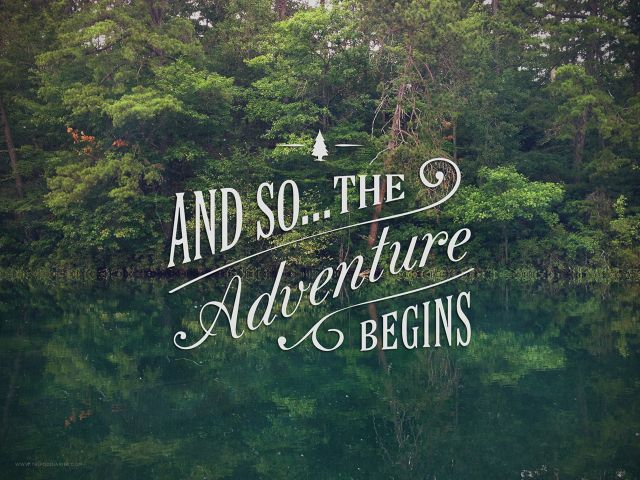 """""""And So...The Adventure Begins"""" how cool would this be if you were doing an outdoor wedding"""