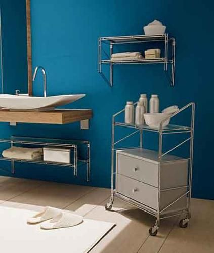 modern bathroom storage furniture on wheels