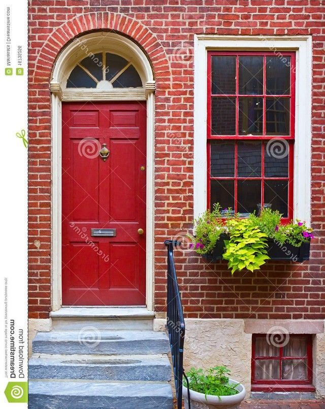 Paint colors for front doors on red brick houses Best red for front door