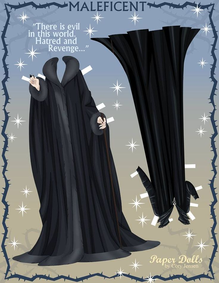 Free Maleficent Paper Dolls by Cory | SKGaleana