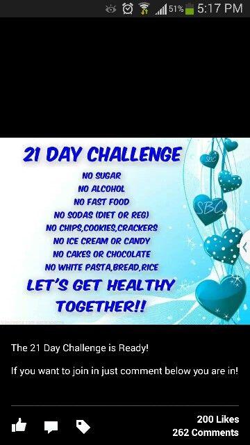 21 days diet challenge