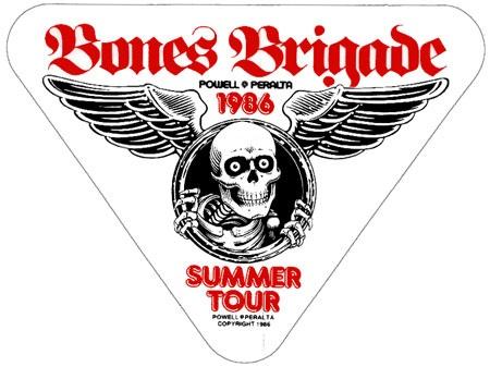 Bones Brigade 1986 Summer Tour sticker