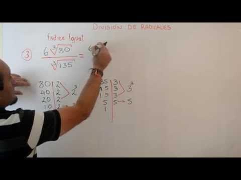 División de Radicales con Mismo Indice | Clases Gratis de Matemáticas - YouTube