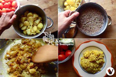 Kuchařka ze Svatojánu: INDICKÉ BRAMBORY S POHANKOU