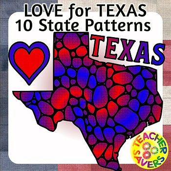 Patterned State of Texas for coloring, mindfulness and reflection. This zip file contains 10 PNG B/W transparent image in 300 dpi, it also contains 3 full color versions as well as 3 pdf files in a 1 per page, 2 per page and 4 per page format for your
