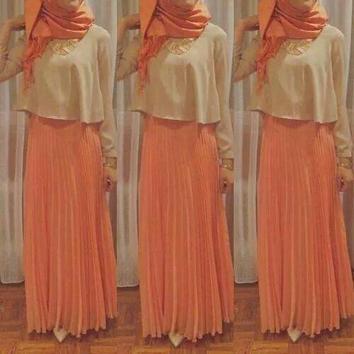 Elegant Hijab Style with Maxi Skirts