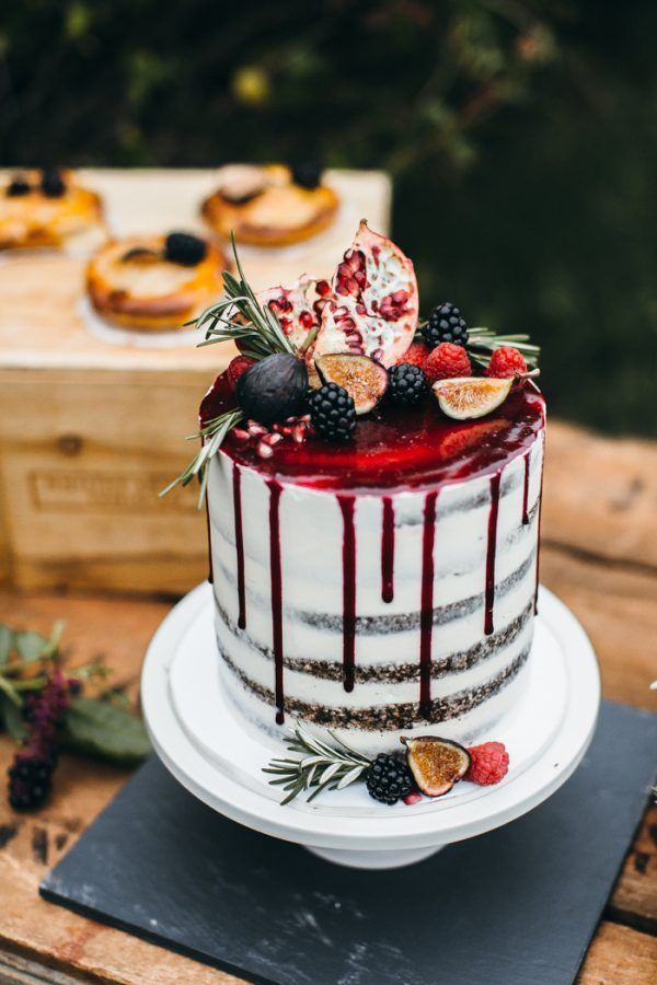 Summery drip cake by Erica OBrien Cake Design | photo by Emily Kirke Photography,