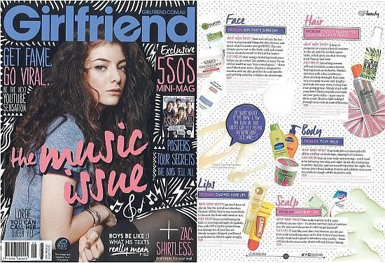 RPR Treat My Scalp as featured in Girlfriend Magazine, ideal to treat itchy, dry and irritated scalps.