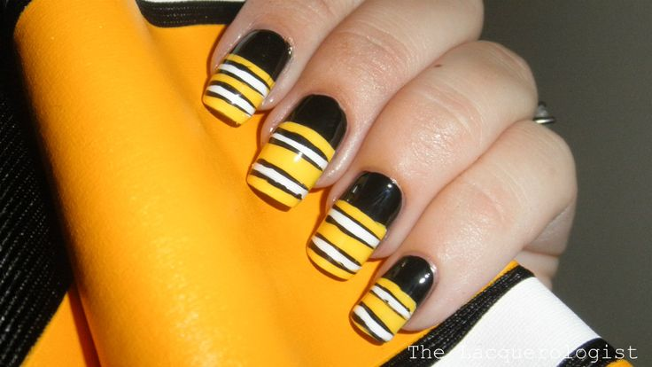 Jersey Nails Lacquerologist Here Steelers