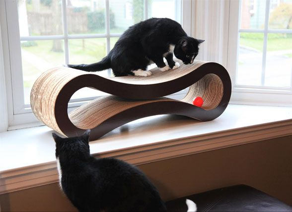 Don't forget about your furry friends this Christmas with the super stylish cat scratcher and lounger. Part pet paradise, part art piece, the lounger naturally attracts cats as the curves make for a more comfortable place to rest, play and scratch!. No assembly required and it retails for $129 (free shipping). More info: bit.ly/Christmas_gifts_PR #Christmasgifts #presents #cats