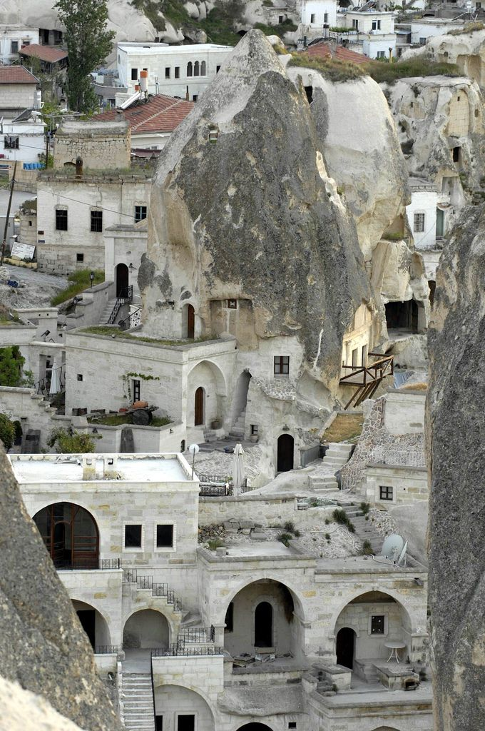 Cappadocia, Turkey - Located in the central part of Turkey, Cappadocia is a stunning part of the world and is known – in tourism terms at least – for the many houses that are built into the mountains and land, which were inhabited by Cappadocian's for centuries.