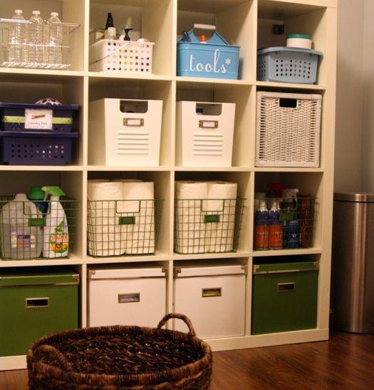 Captivating Laundry Room Storage Shelves With Baskets