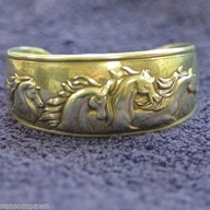 Kabana Sterling Silver Wild Horses Cuff Bangle   eBay #food