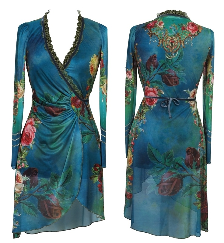 michal negrin wrap dress