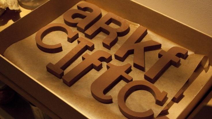 Chocolate y tipografías, unidos en Chocography