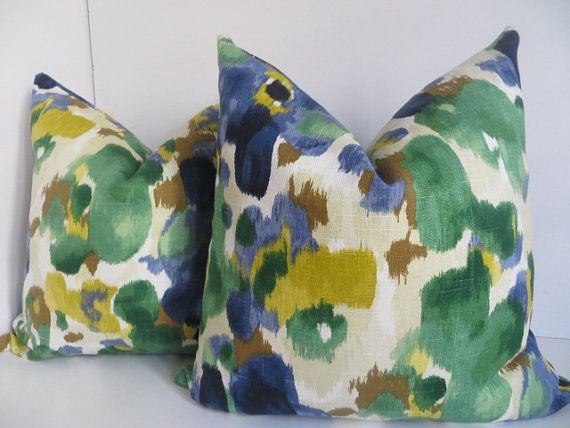 Include one pillow cover, pillow insert is not included  -Size: 20x20/18x18/16x16  -Color: Green, Blue, Yellow and Cream Pillow Covers, dwell