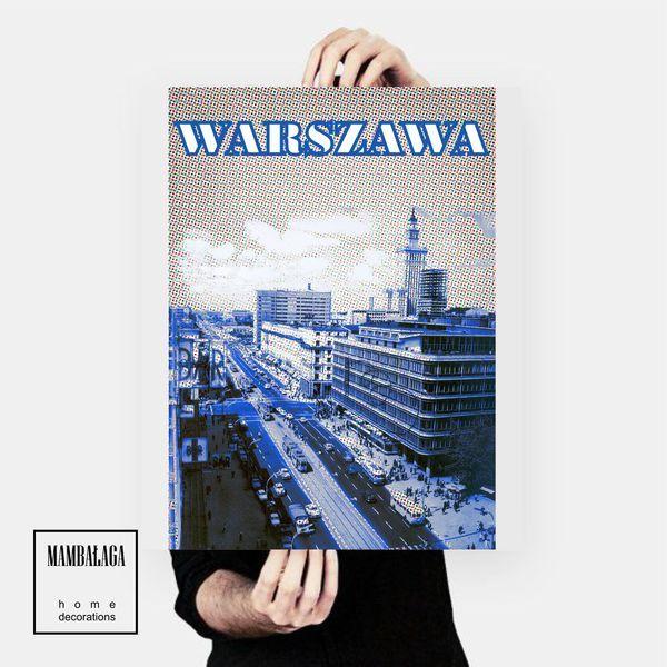 plakat_WARSZAWA - MAMBALAGA - Plakaty typograficzne
