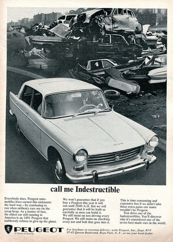 1965 Peugeot Advertisement Road & Track September 1965 | Flickr - Photo Sharing!