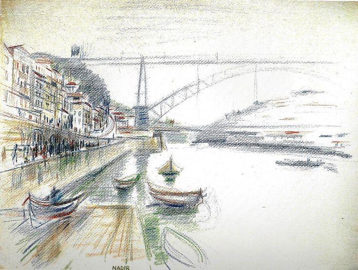 Nadir Afonso -Ponte Luís I -Portugal