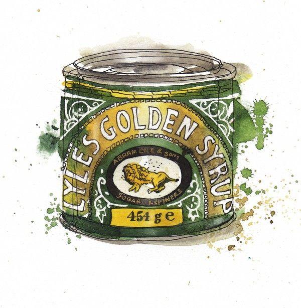 Lyles Golden Syrup packaging illustration English Packaging Illustrations