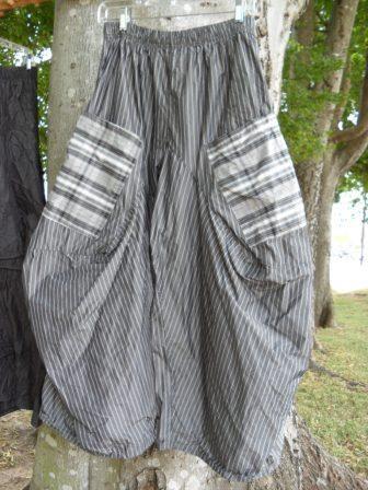 harem pants - I'd prefer it as pants, but love the combination of patterns