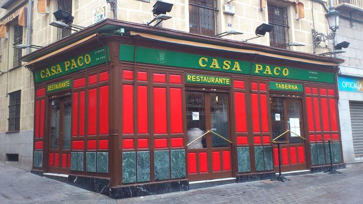 Casa Paco. Plaza puerta cerrada 11. Queso manchego, chicharrones, pisto manchego.