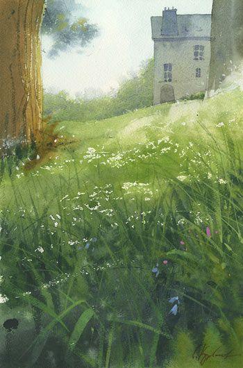 """Maison,"" by Sergey Kurbatov, 2014, watercolor"
