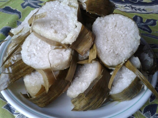Lemang. Traditional food from Indonesia