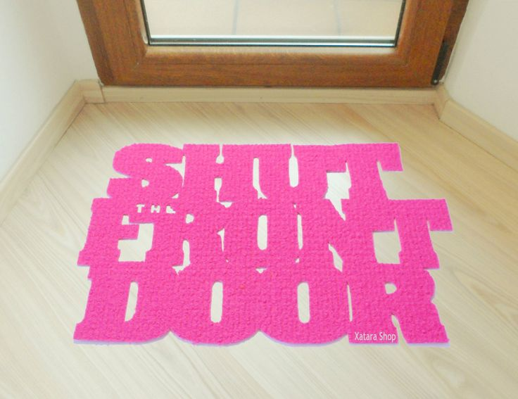"Floor mat ""Shut the front door"". Original doormat. Welcome door mat by Xatara on Etsy"