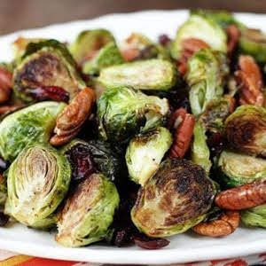 Roasted Brussels Sprouts with Cranberries and Pecans   – Veggies…… – #Brusse…   – Roasted