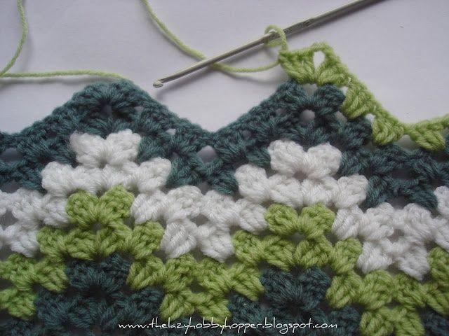 The Lazy Hobbyhopper: How to crochet granny ripple.