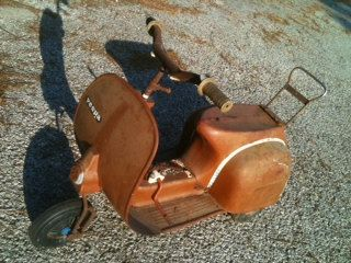 1960's Vespa Scooter pedal car powered toy retro by RolandDressler, $575.00